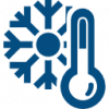 Thermometer And Snowflake Icon